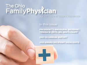 Fall Issue of The Ohio Family Physician Published